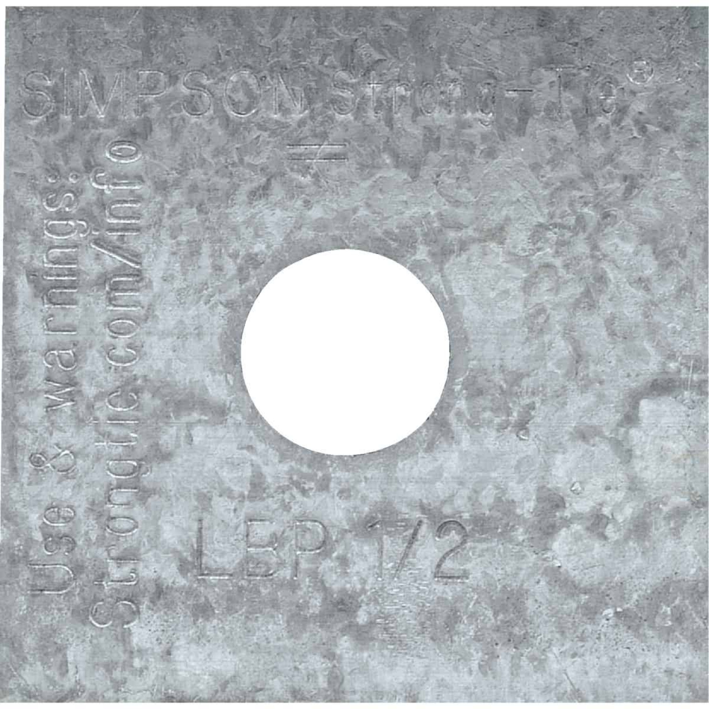 Simpson Strong-Tie 1/2 in. x 2 in. x 9/64 in. Steel Z-Max Bearing Plate Image 1