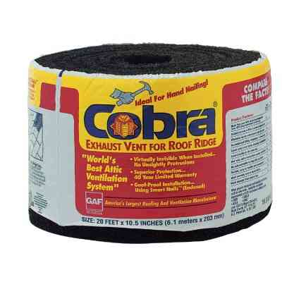 Cobra 20 Ft. Hand-Nailed Rolled Ridge Vent