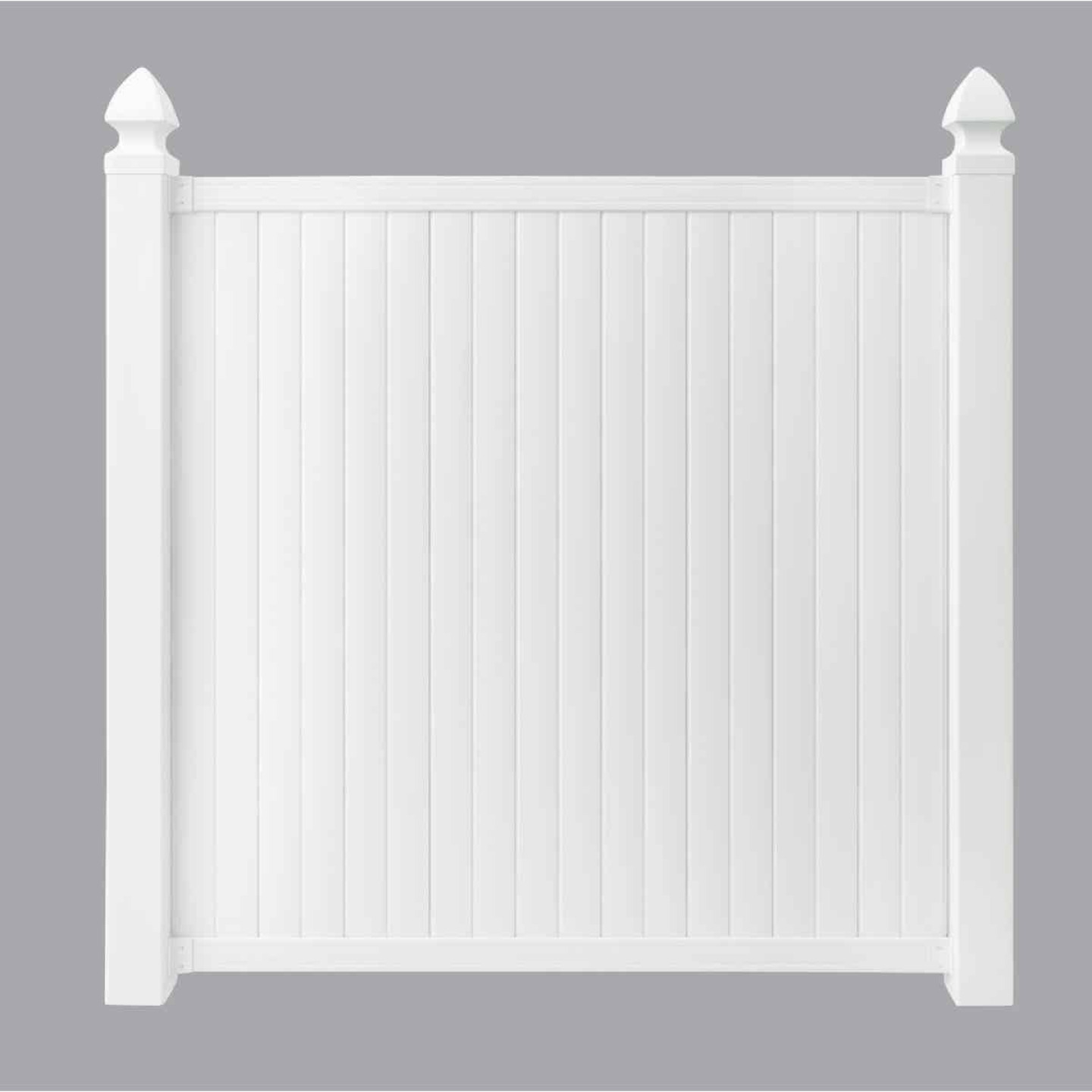 Outdoor Essentials 6 Ft. H. x 6 Ft. L. Standard White Vinyl Privacy Fence Image 1
