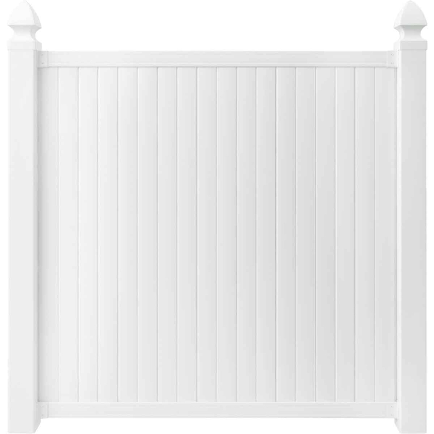 Outdoor Essentials 6 Ft. H. x 6 Ft. L. Standard White Vinyl Privacy Fence Image 3