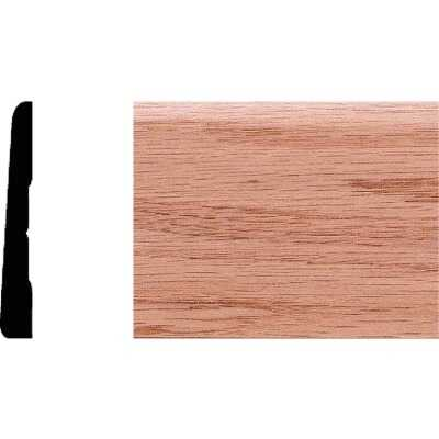 House of Fara 3/8 In. W. x 2-3/4 In. H. x 8 Ft. L. Solid Red Oak Modern Base