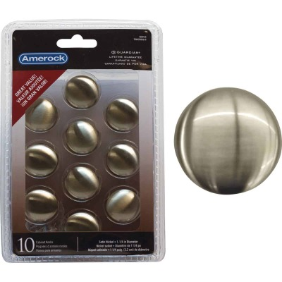 Amerock Allison Edona Satin Nickel 1-1/4 In. Cabinet Knob, (10-Pack)
