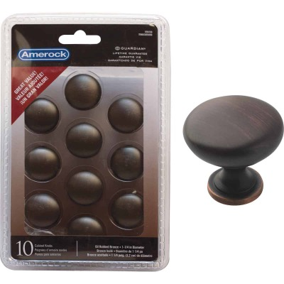 Amerock Allison Edona Oil Rubbed Bronze 1-1/4 In. Cabinet Knob, (10-Pack)