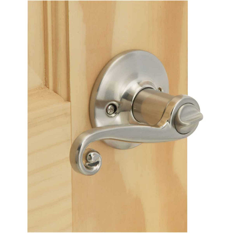 Steel Pro Brushed Nickel Scroll Privacy Door Lever  Image 2
