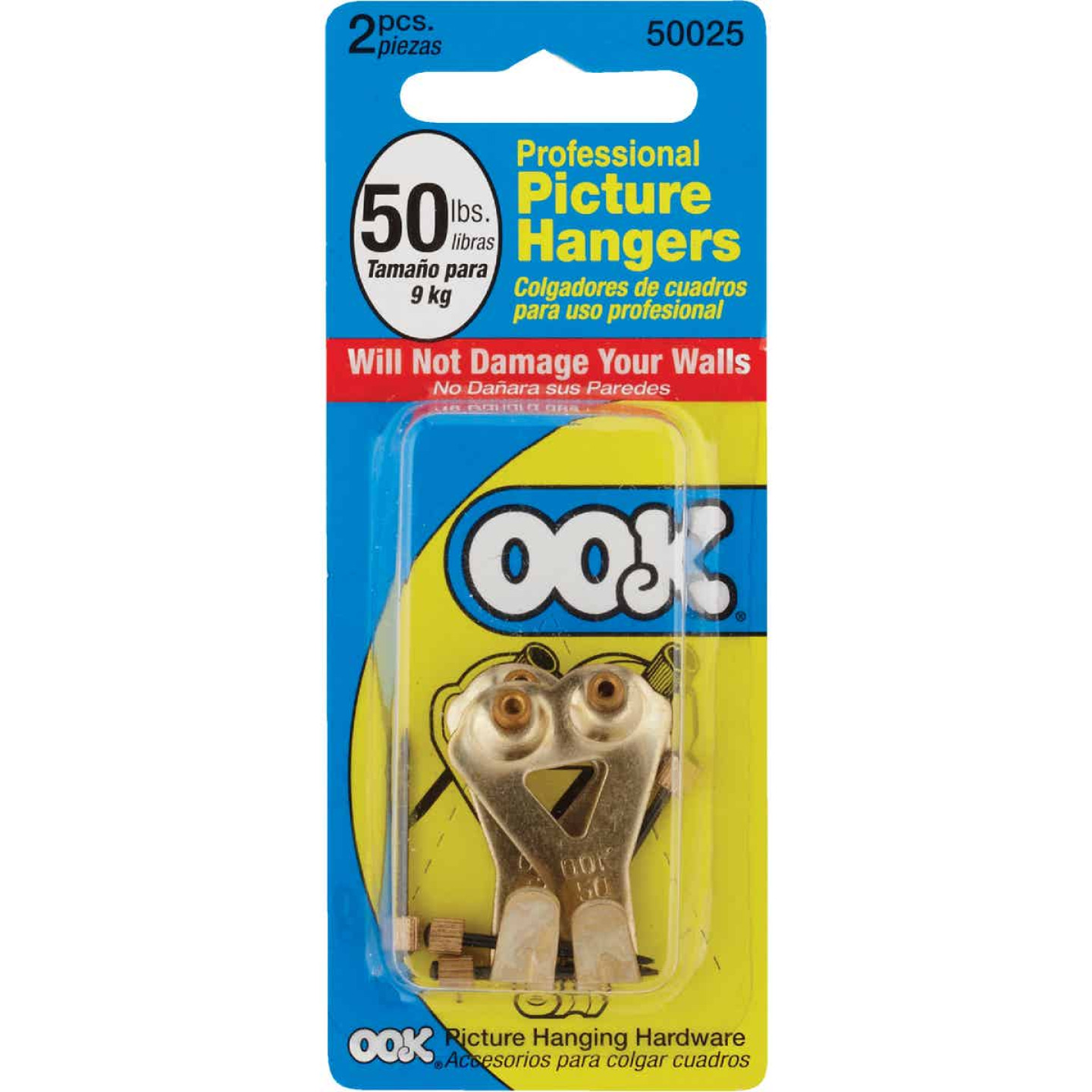 Hillman OOK 50 Lb. Capacity Shield Picture Hanger (2 Count) Image 2