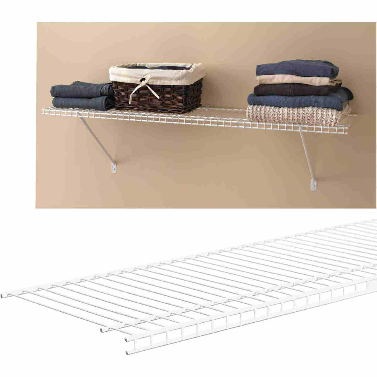 ClosetMaid SuperSlide 6 Ft. W. x 12 In. D. Ventilated Closet Shelf, White Image 1