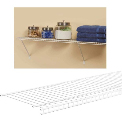 ClosetMaid SuperSlide 4 Ft. W. x 12 In. D. Ventilated Closet Shelf, White