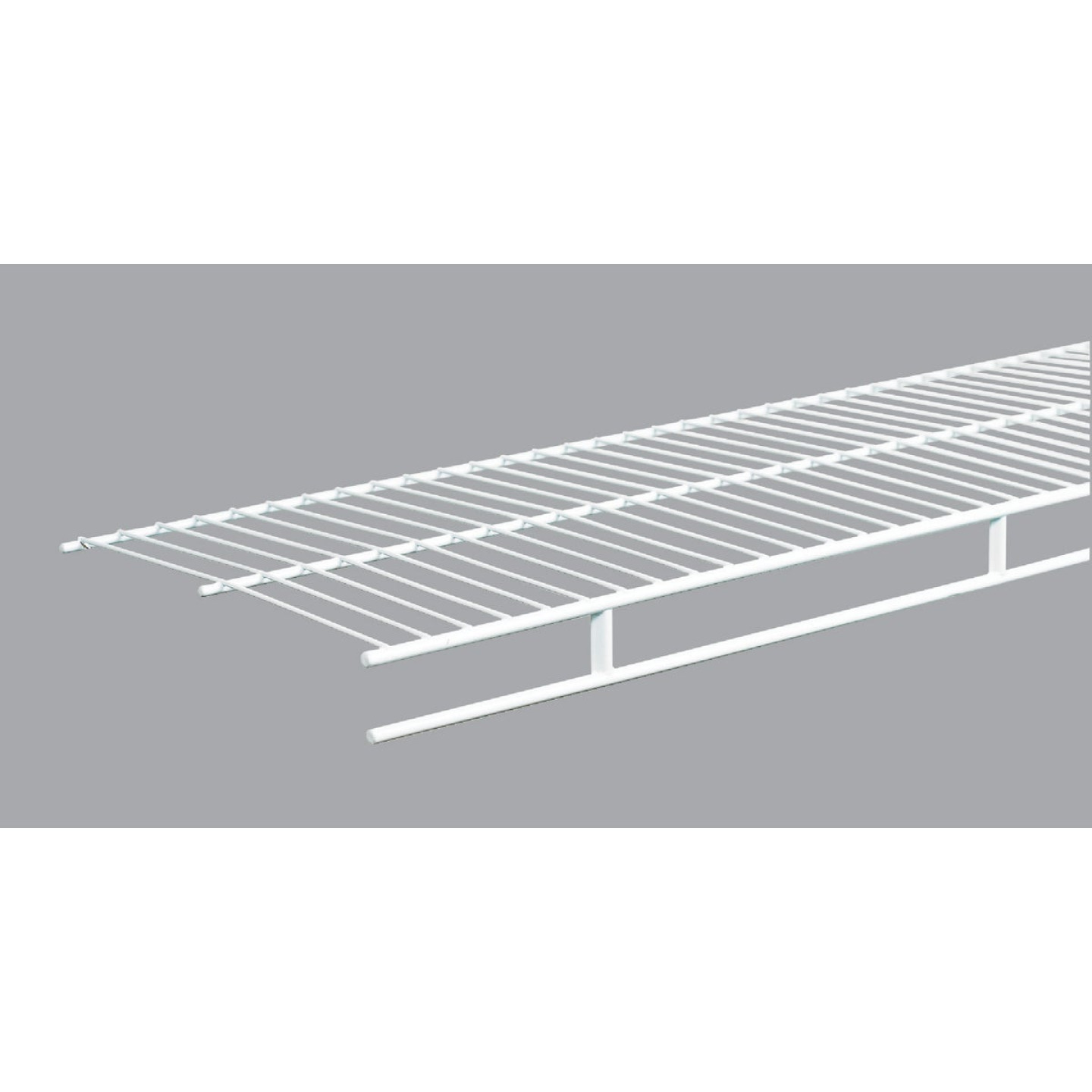 ClosetMaid 6 Ft. W. x 12 In. D. Ventilated Wire Shelf & Rod, White Image 1