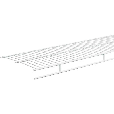 ClosetMaid 4 Ft. W. x 12 In. D. Ventilated Wire Shelf & Rod, White