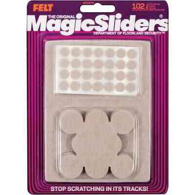 Magic Sliders Assorted Felt Round Pad Assortment,(102-Count)
