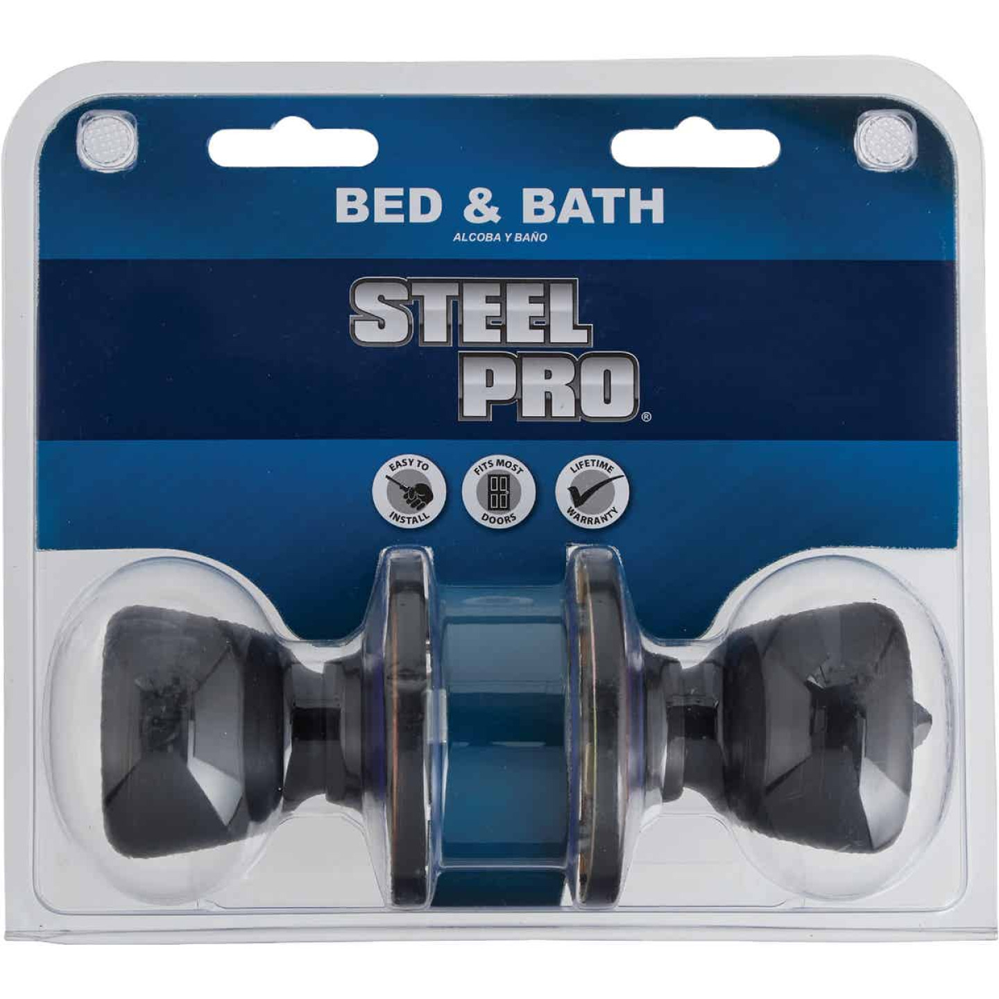 Steel Pro Oil Rubbed Bronze Bed & Bath Door Knob Image 2