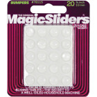 Magic Sliders 3/8 In. Round Clear Furniture Bumpers,(20-Count) Image 2