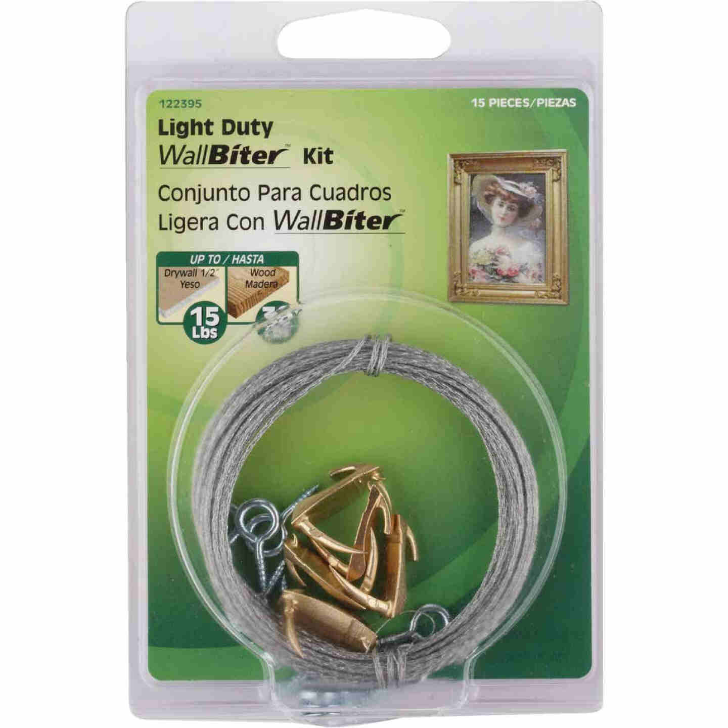 Hillman Anchor Wire 15 Lb. Capacity Wallbiter Picture Hanging Kit Image 2