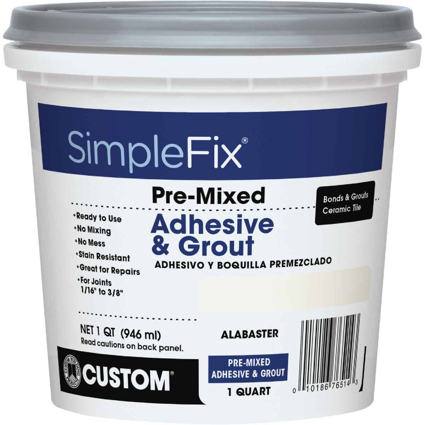 Custom Building Products Simplefix Quart Alabaster Sanded Tile Grout Image 1
