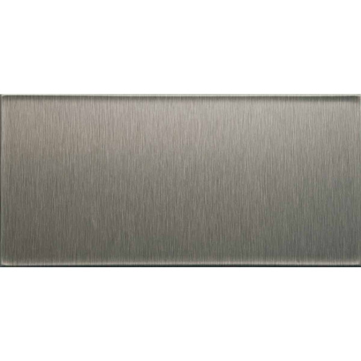 Aspect 3 In. x 6 In. Aluminum Backsplash Peel & Stick, Short Grain Stainless (8-Pack)