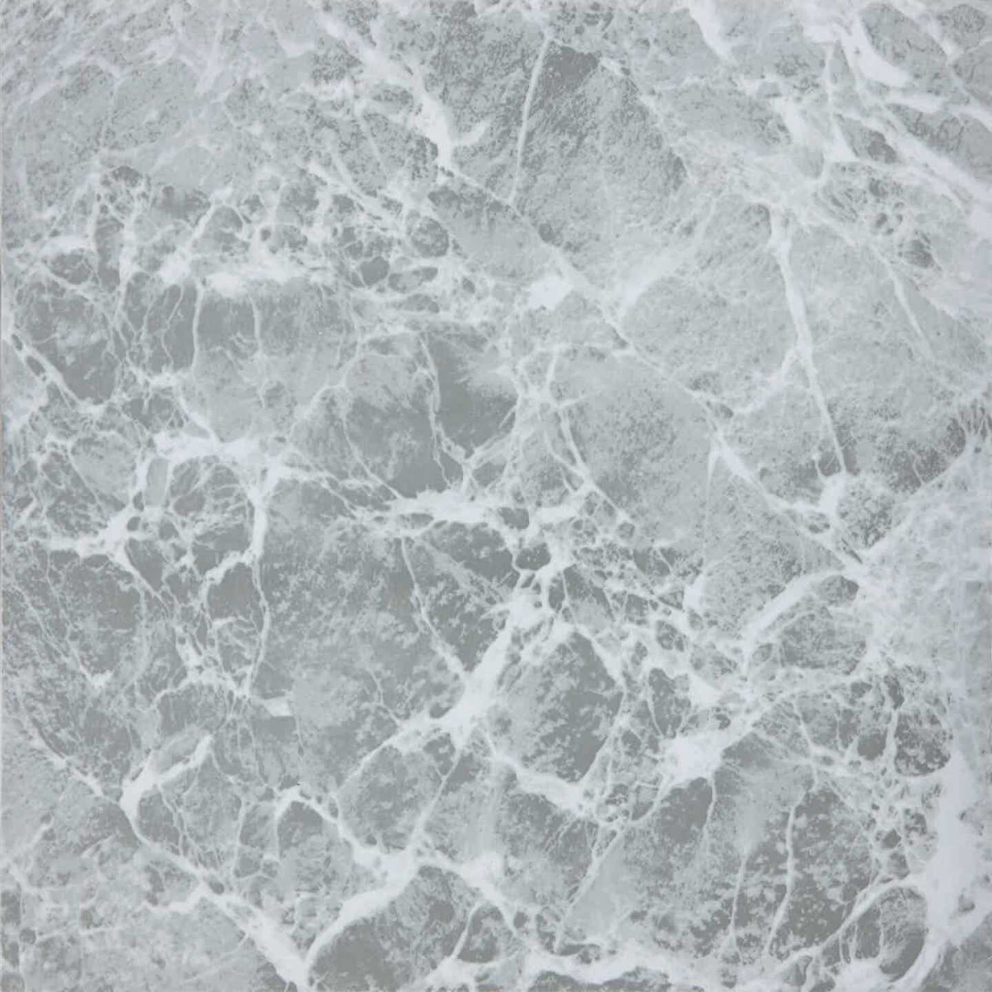 Home Impressions Gray Marble 12 In. x 12 In. Vinyl Floor Tile (45 Sq. Ft./Box) Image 1
