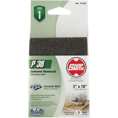 Gator Blade 3 In. x 18 In. 36 Grit Heavy-Duty Sanding Belt