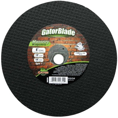 Gator Blade Type 1 8 In. x 5/8 In. x 1/8 In. Masonry Cut-Off Wheel