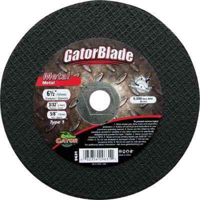 Gator Blade Type 1 6 In. x 040 In. x 7/8 In. Metal Cut-Off Wheel