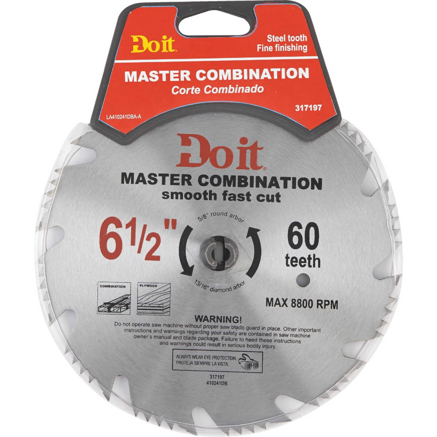 Do it Master Combination 6-1/2 In. 48-Tooth Crosscut/Rip Circular Saw Blade Image 1