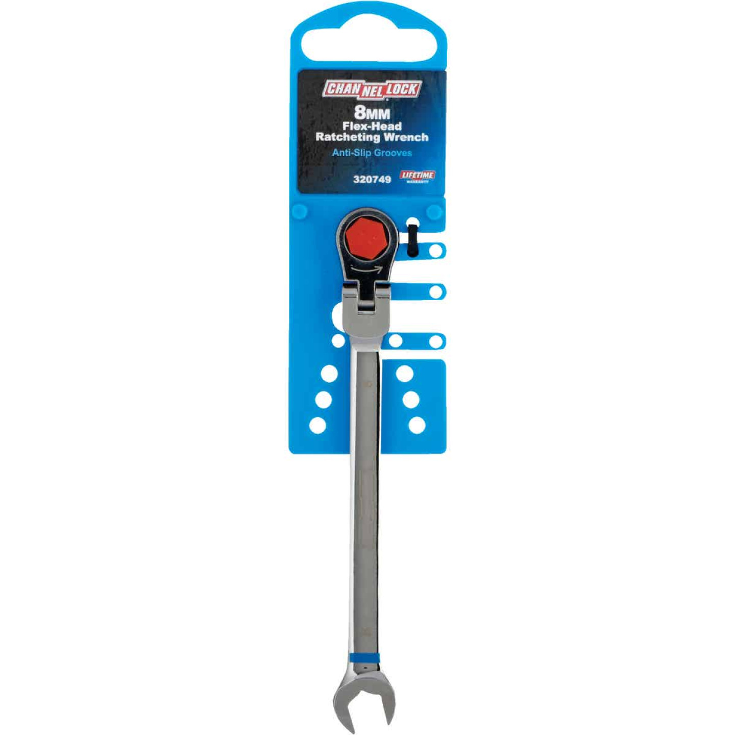 Channellock Metric 8 mm 12-Point Ratcheting Flex-Head Wrench Image 2