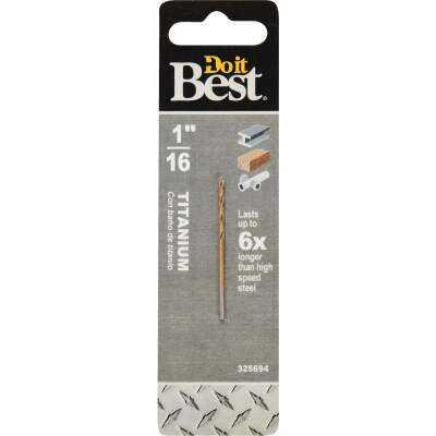 Do it Best 1/16 In. Titanium Drill Bit