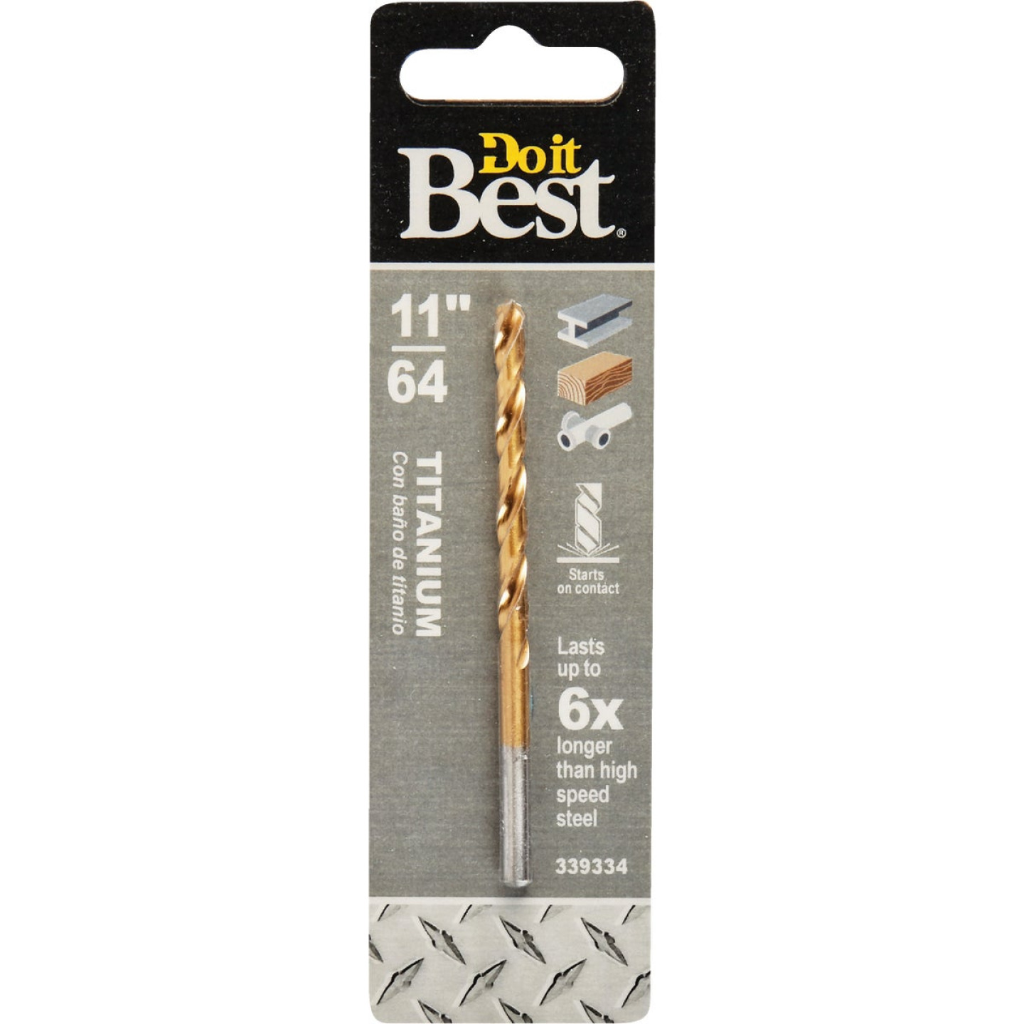 Do it Best 11/64 In. Titanium Drill Bit Image 1