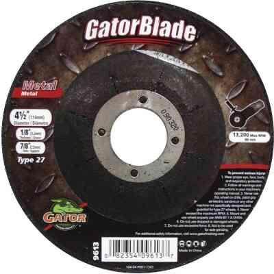 Gator Blade Type 27 4-1/2 In. x 1/8 In. x 7/8 In. Metal Cut-Off Wheel