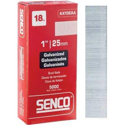 Senco 18-Gauge Galvanized Medium Head Brad Nail, 1 In. (5000 Ct.)