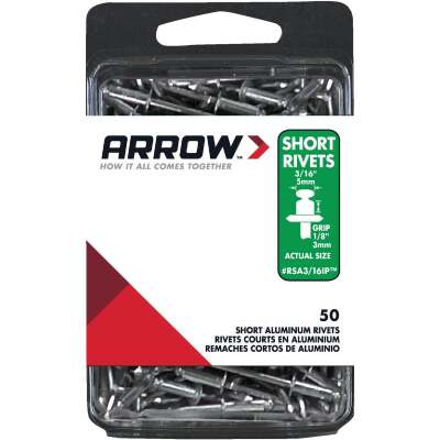 Arrow 3/16 In. x 1/8 In. Aluminum IP Rivet (50 Count)