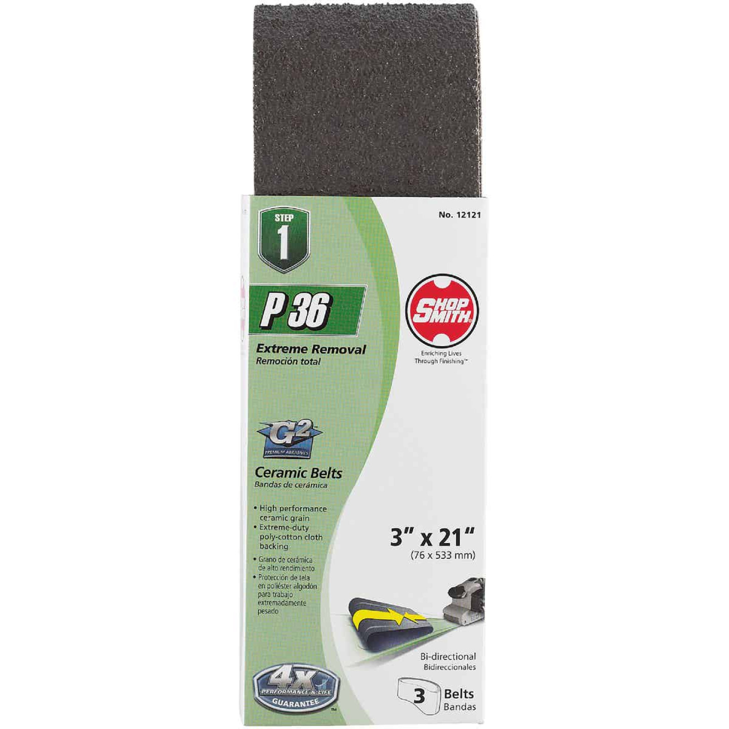 Gator Blade 3 In. x 21 In. 36 Grit Heavy-Duty Sanding Belt (3-Pack) Image 2