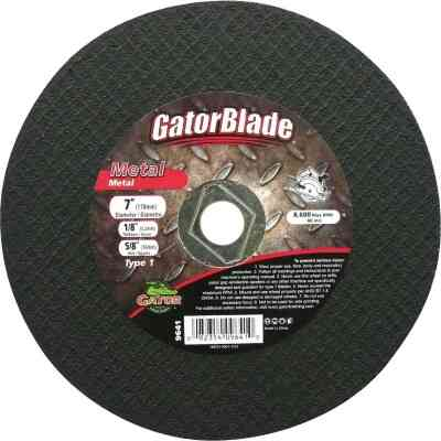 Gator Blade Type 1 7 In. x 1/8 In. x 5/8 In. Metal Cut-Off Wheel