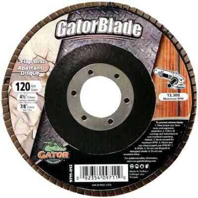 Gator Blade 4-1/2 In. x 7/8 In. 120-Grit Type 29 Angle Grinder Flap Disc