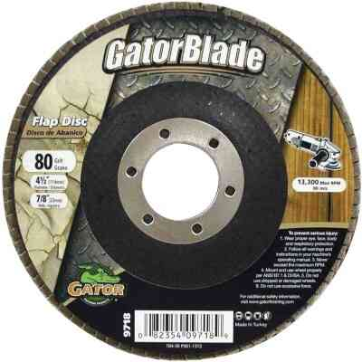 Gator Blade 4-1/2 In. 80-Grit Type 29 Angle Grinder Flap Disc