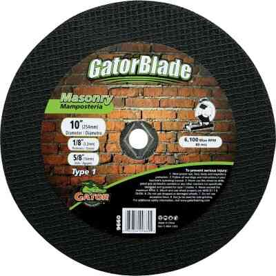 Gator Blade Type 1 10 In. x 1/8 In. x 5/8 In. Masonry Cut-Off Wheel