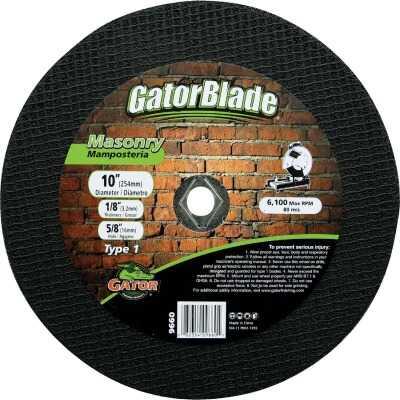 Gator Blade Type 1 10 In. x 1/8 In. x 5/8 In. Masonry Cut-Off Wheel