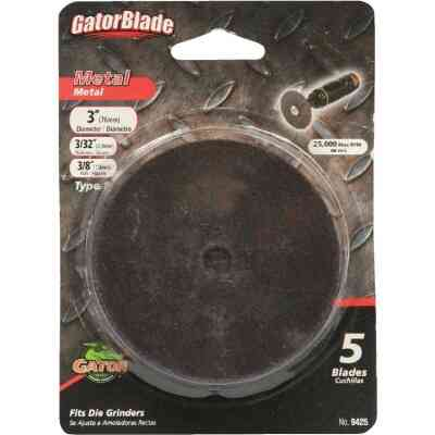 Gator Blade Type 1 3 In. x 3/32 In. x 3/8 In. Metal Cut-Off Wheel (5-Pack)