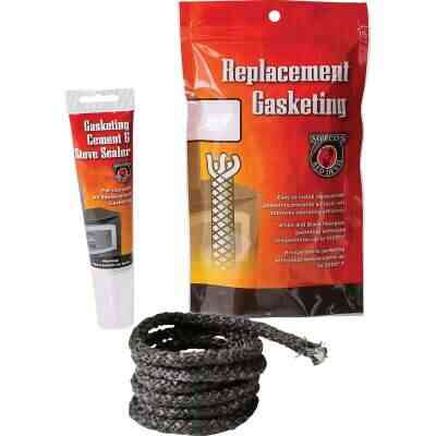 Meeco's Red Devil Gasketing Cement/Stove Sealer and 1/2 In. x 6 Ft. Replacement Rope Gasket Kit