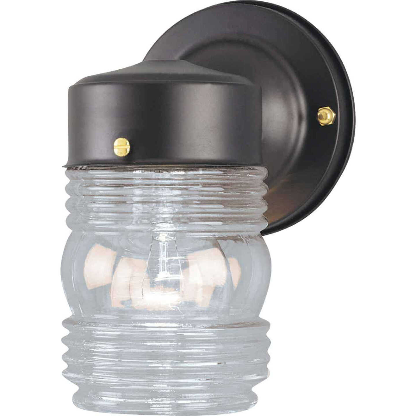 Home Impressions Black Incandescent Type A Outdoor Wall Light Fixture Image 1