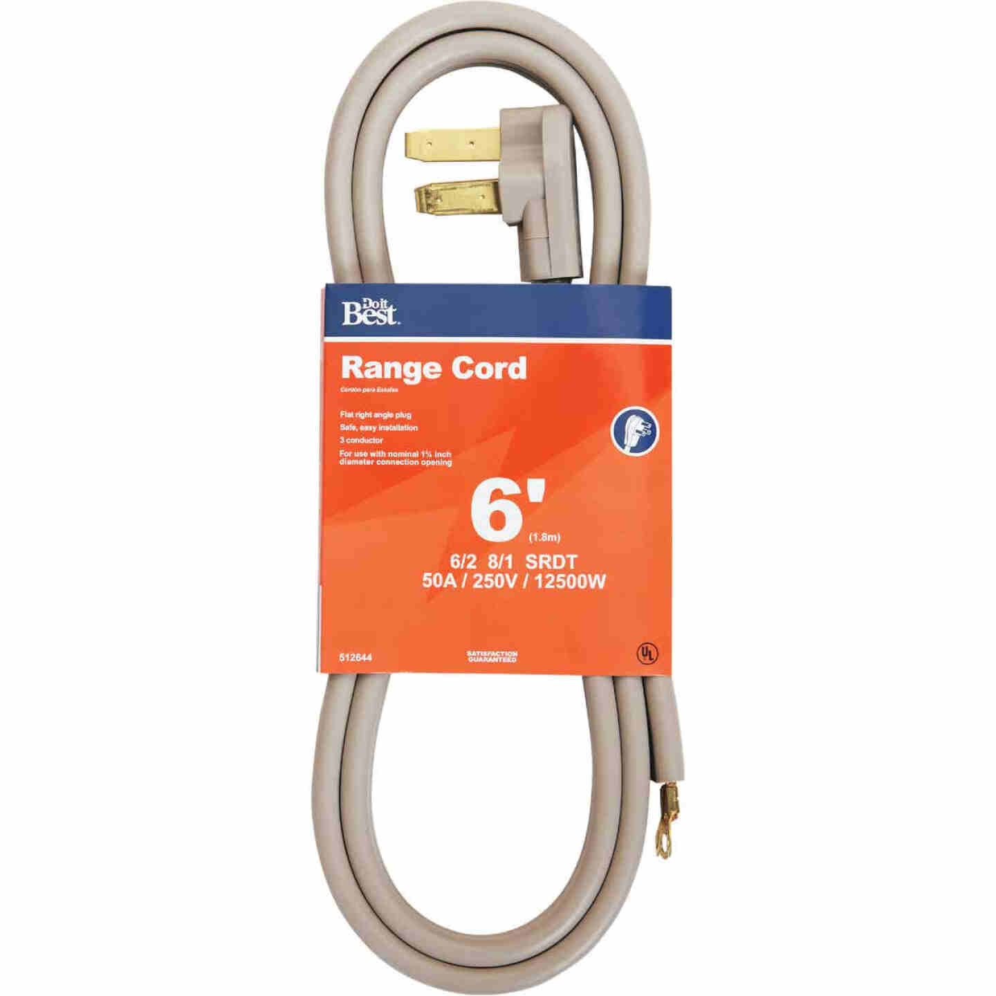 Do it Best 6 Ft. 6/2 + 8/1 Ga. 3-Conductor Range Cord Image 1