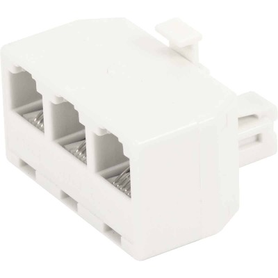 RCA White 3-Line Phone Splitter