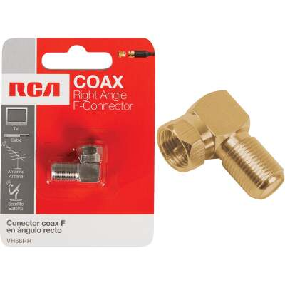 RCA Right Angle Coaxial F-Connector