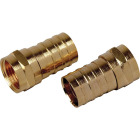 RCA RG6 Crimp-On Coaxial F-Connector (10-Pack) Image 1