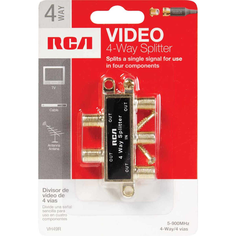 RCA 4-Way Coaxial Splitter Image 2