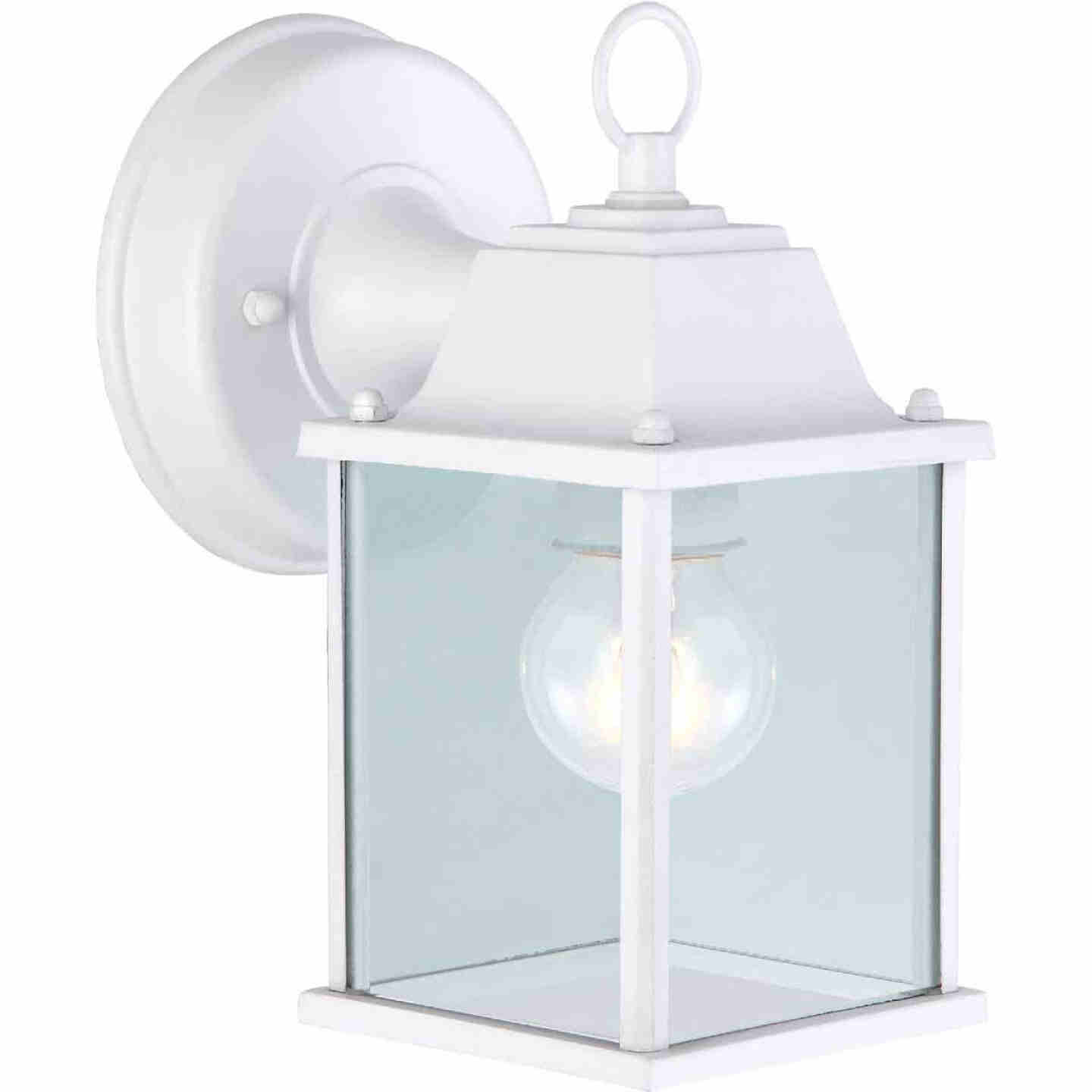 Home Impressions 100W Incandescent White Lantern Outdoor Wall Light Fixture Image 1