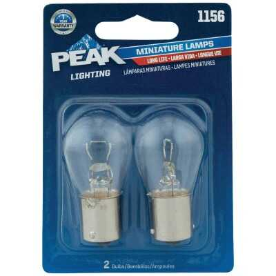 PEAK 1156 12.8V Mini Incandescent Automotive Bulb (2-Pack)