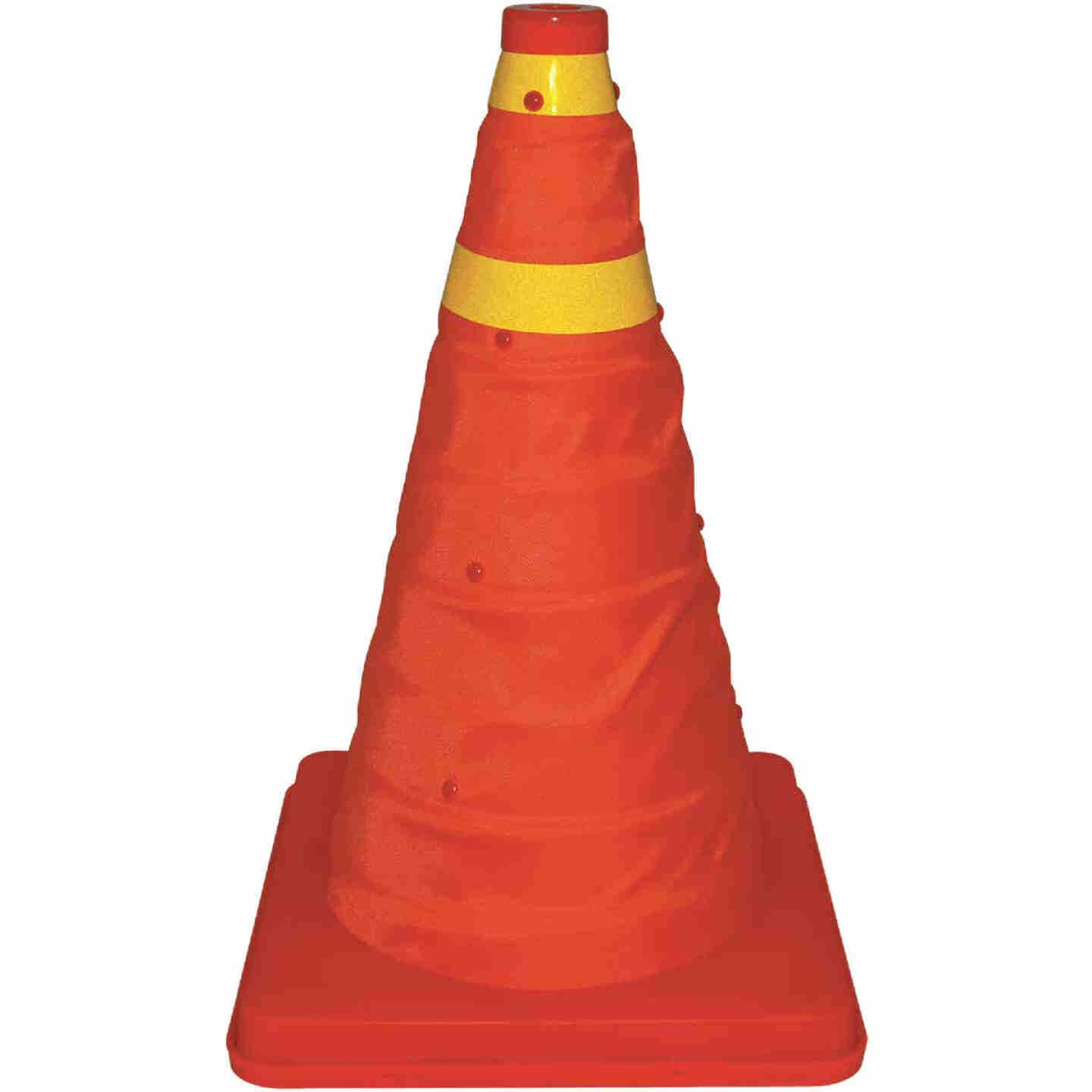 Bell 16 In. H Orange Collapsible Safety Cone Image 1
