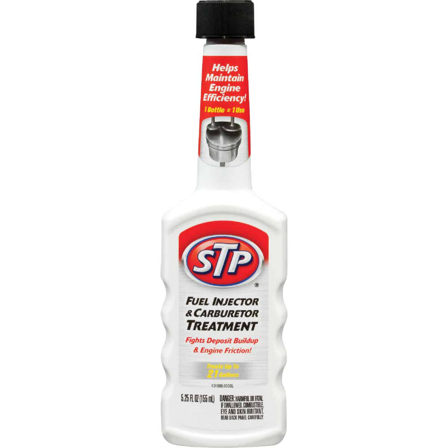 STP 5.25 Fl. Oz. Fuel Injector and Carburetor Fuel System Cleaner Image 1
