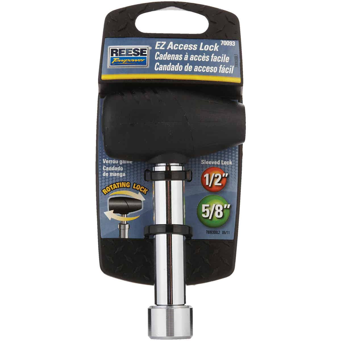 Reese Towpower Easy Access Chrome-Plated 1/2 In. & 5/8 In. Coupler Lock Image 2
