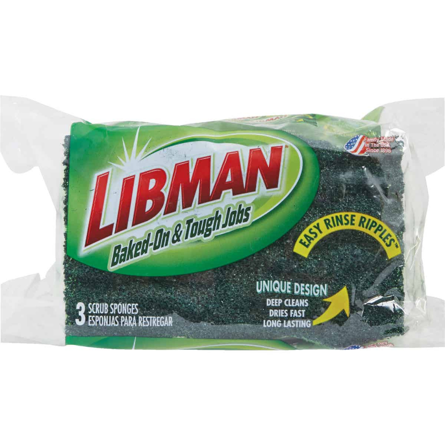 Libman 4.5 In. x 3 In. Yellow & Green Heavy Duty Scrub Heavy Duty Sponge (3-Count) Image 2